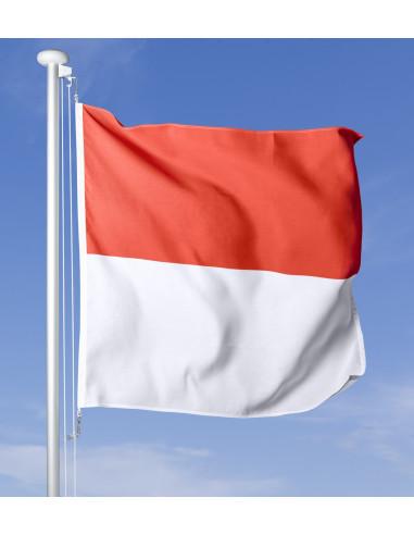Bandiera Soletta che sventola al vento sul pennone, cielo blu sullo sfondo