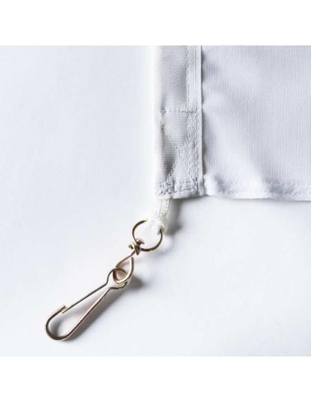 Tessuto bianco con bandiera vallese classic con doppio angolo cucito incl. moschettoni
